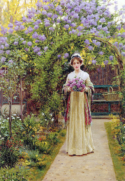 Lilac by Edmund Blair Leighton, 1901
